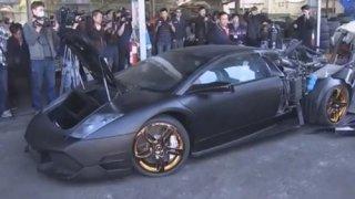 Siêu xe Lamborghini nhập lậu bị 'xử' tại Đài Loan