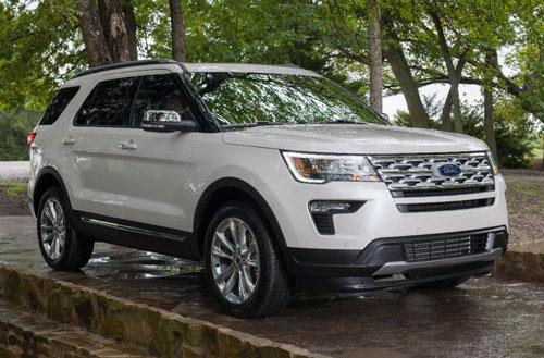 10 xe SUV/Crossover 3 hàng ghế tốt nhất năm 2019:Ford Explorer 2019.
