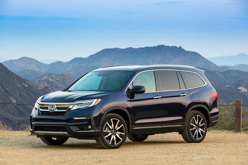 10 xe SUV/Crossover 3 hàng ghế tốt nhất năm 2019:Honda Pilot 2019.