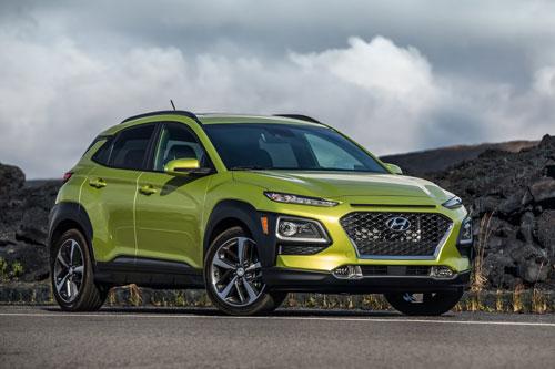 Top 10 xe SUV an toàn nhất năm 2019: Hyundai Kona 2019.