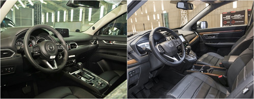 So sánh Mazda CX-5 và Honda CR-V về nội thất