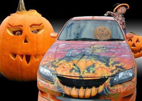 """""""Choáng"""" với dàn xe Halloween kinh dị đi trên phố trên khắp thế giới 4a"""