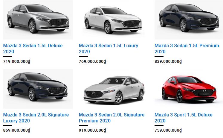 giá  Mazda3 2020