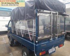 Giá xe tải nhẹ máy xăng 800 kg, Thaco Towner 800 khí thải Euro 4 tải 900kg thùng bạt giá 159 triệu tại Tp.HCM