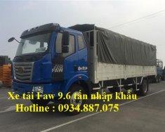 Bán xe tải Faw 9.6 tấn - 9T6 - 9.6 tấn động cơ 160HP nhập khẩu thùng dài 7.5 mét giá 760 triệu tại Tp.HCM