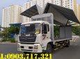 Bán xe ô tải DongFeng B180 thùng kín cánh dơi, thùng mở cánh chim bung ra