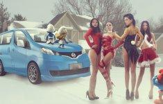 Người đẹp và xe Nissan: Gọi giáng sinh về