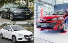 Biến động giá xe Toyota Vios, Honda City và Hyundai Accent cận Tết