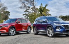 Chọn SUV 7 chỗ Mazda CX-8 2019 hay Hyundai Santa Fe 2019