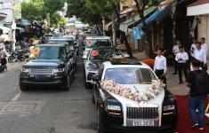 """Ngắm dàn xe """"triệu đô"""" tham dự lễ rước dâu con gái Minh Nhựa"""