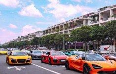 Hàng loạt siêu xe đắt tiền trên khắp cả nước về quy tụ tại Bình Dương