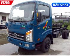 Bán xe tải veam VT200 tải 1.9 tấn thùng bạt dài 4 mét 3 máy huyndai giá rẻ giao ngay giá 417 triệu tại Tp.HCM
