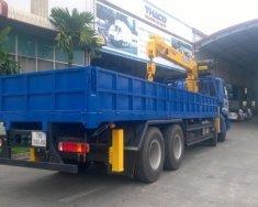 Xe tải 4 chân gác cẩu 7 tấn Auman C300B, cẩu Soosan mới 100% Nhập khẩu Hàn Quốc giá 2 tỷ tại Hà Nội