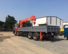 Xe tải 4 chân Gác cẩu 10 tấn, Cẩu Kanglim Hàn Quốc 10 tấn mới 100%, giao xe ngay giá 2 tỷ 200 tr tại Hà Nội