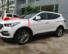 Cần bán Hyundai Santa Fe năm 2018 màu trắng, giá 898 triệu giá 898 triệu tại Hải Phòng