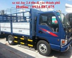 Công ty bán xe tải JAC 2.4 tấn/2t4/2.4 tấn thùng dài 3.75 mét đi vào TP giá 295 triệu tại Tp.HCM