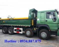 Bán xe ben Howo 4 chân (8x4) nhập khẩu nguyên chiếc, thùng đúc loại 1 giá 1 tỷ 240 tr tại Tp.HCM