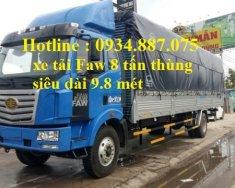 Bán xe tải Faw 8 tấn (8T) thùng dài 9.8 mét chuyên chở mút xốp giá 970 triệu tại Tp.HCM