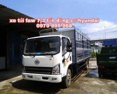Đại lý bán xe tải faw 7t3 động cơ hyundai / faw 7.3 tấn / faw 7,3 tấn thùng dài 6m25 giá 539 triệu tại Hà Nội