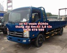 Xe tải Veam Vt340s, thùng dài 6m1, động cơ Hyundai, tải trọng 3,5 tấn giá 455 triệu tại Hà Nội