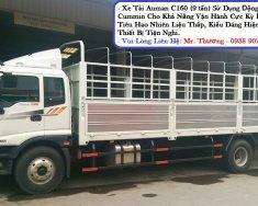 Xe tải Thaco Auman C160, tải trọng 9T3, thùng lửng, mui bạt, thùng kín giá 629 triệu tại Tp.HCM