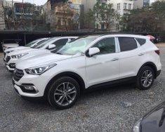 Cần bán xe Hyundai Santa Fe sản xuất 2018, màu trắng giá 1 tỷ 25 tr tại Hà Nội