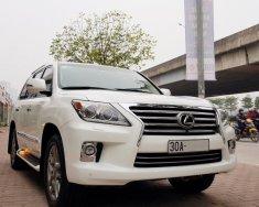 Bán Lexus Lx570 xuất Mỹ sản xuất 2014 màu trắng nội thất kem giá 4 tỷ 980 tr tại Hà Nội