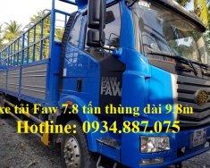 Đại lý bán xe tải Faw 7.8 tấn (7T8), thùng siêu dài 9.8m nhập khẩu giá 776 triệu tại Tp.HCM