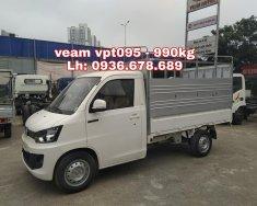 Đại lý chính hãng bán xe veam vpt095 thùng mui bạt 2,6m, tải trọng 990kg,điều hòa,trợ lực,giá rẻ giá 229 triệu tại Hà Nội