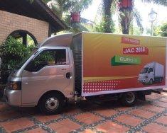 Bán xe tải JAC 9,9 tạ máy dầu, thùng dài 3,2 mét, có điều hòa, trợ lái, trả góp 80 tr giá 225 triệu tại Hải Phòng