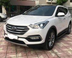 Bán Hyundai Santa Fe CRDi 2.2L đời 2017, màu trắng giá 1 tỷ 80 tr tại Hà Nội