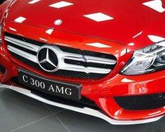 Cần bán xe Mercedes C300 AMG đời 2017, màu đỏ như mới giá 1 tỷ 849 tr tại Tp.HCM