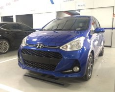 Cần bán Hyundai Grand i10 sản xuất 2018, màu xanh lam giá 405 triệu tại Tp.HCM
