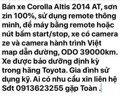 Bán Corolla Altis 2014 AT giá 640 triệu tại Tp.HCM