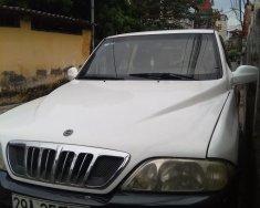 Bán xe Ssangyong Musso máy dầu, năm 2004, màu trắng, ít sử dụng, giá 140tr giá 140 triệu tại Hà Nội