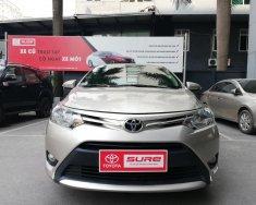 Toyota Sure (091.118.6366): Bán Toyota Vios E số tự động, sản xuất 2017, màu vàng cát giá 548 triệu tại Hà Nội