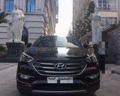 Bán ô tô Hyundai Santa Fe CRDI 4WD 2.2AT 2017, màu đen số tự động giá 1 tỷ 186 tr tại Hà Nội