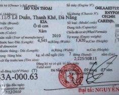 Cần bán xe Kia Carens năm 2010, nhập khẩu, biển số đẹp giá 280 triệu tại Đà Nẵng
