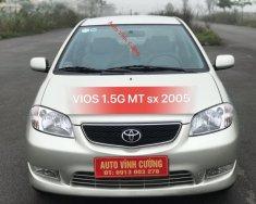 Bán Toyota Vios 1.5G MT đời 2005, màu ghi bạc giá 240 triệu tại Hà Nội