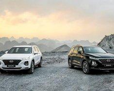 Giao ngay Hyundai Santa Fe Prenium 2019, màu trắng giá 1 tỷ 180 tr tại Hà Nội