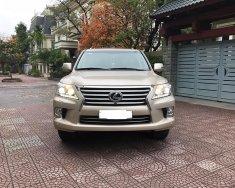 Bán Lexus LX570 màu vàng cát, nội thất kem. Sản xuất và đăng ký 2012, tư nhân chính chủ giá 4 tỷ 200 tr tại Hà Nội