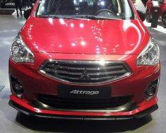 Bán Mitsubishi Attrage 1.2 MT Eco đời 2019, màu đỏ, nhập khẩu giá 376 triệu tại Tp.HCM