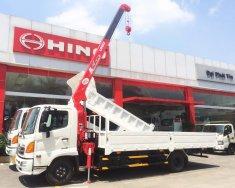 Xe tải Hino 2019 6 tấn thùng lửng 6.1m gắn cẩu Unic URV344 giá 1 tỷ 410 tr tại Tp.HCM