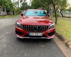 Bán ô tô Mercedes C300 AMG đời 2015, màu đỏ chính chủ giá 1 tỷ 350 tr tại Tp.HCM