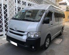 Nhà cần bán Toyota Hiace 2018, số sàn, 16 chỗ, máy xăng, nhập Nhật, màu xám bạc giá 655 triệu tại Tp.HCM